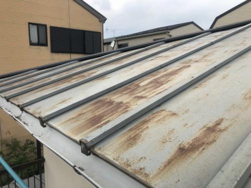 上屋根に錆が発生