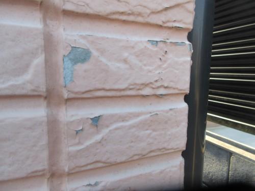 ケイナスホーム 外壁 塗膜の剥がれ