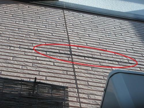ケイナスホーム 外壁サイディングの浮き2