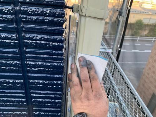 ケイナスホーム 付帯部 雨樋のケレン作業