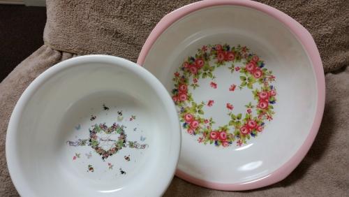 花柄洗面器大小