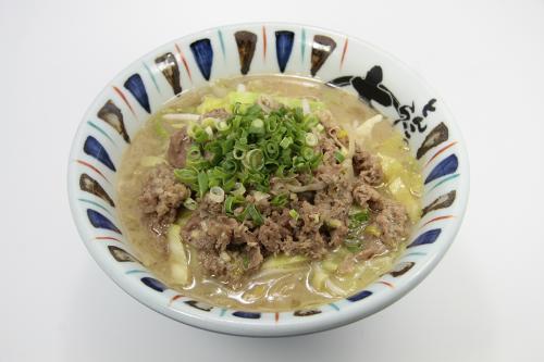3月の限定麺「ザ・牛麺 葱塩ダレ 830円(税込896円)」