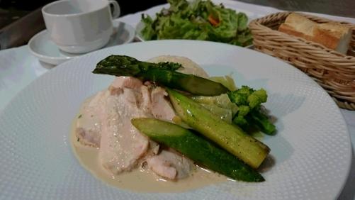 鶏胸肉とグリーンアスパラガス
