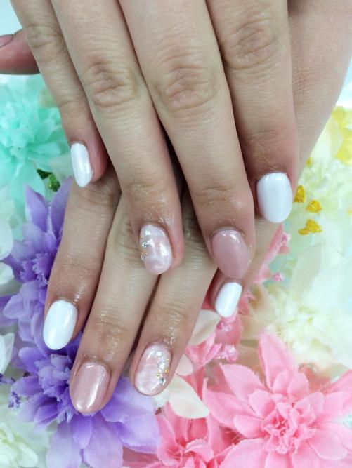 マーブル☆ベージュ&ホワイト