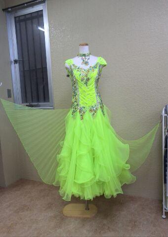 スタンダードドレス レモンイエロー豪華ドレス