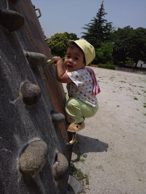 今日も元気に公園☆1才児、動きもレベルアップしてます
