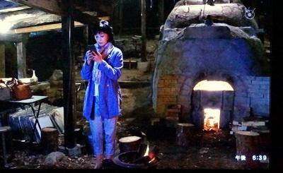 ドラマ、ようこそわが家へに、けんぼう窯の登り窯が登場