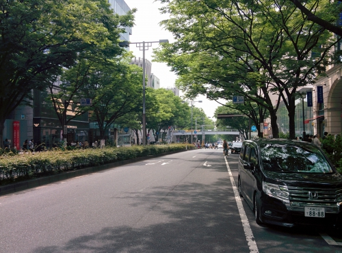 渋谷区の表参道に宅配