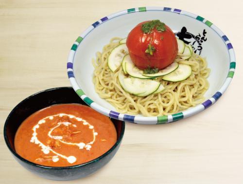 夏季限定「冷やしまるごとトマトつけ麺」の先行販売のお知らせ!