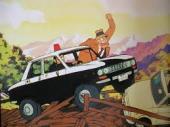 警察官の目の前から事故車が逃げちゃた。
