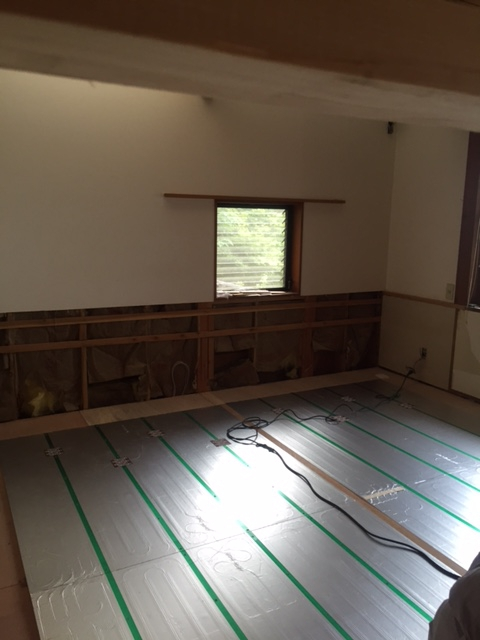 世田谷区 リフォーム 床暖房設置