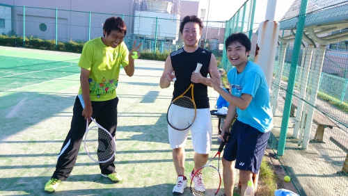 みんなで、テニス