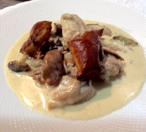 岩手県いわい鶏と天然きのこのフリカッセ