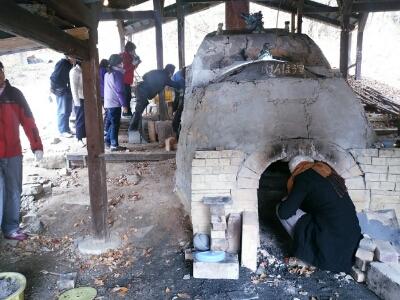 登り窯だし無事に完了。なかなかの焼き上がりでした。