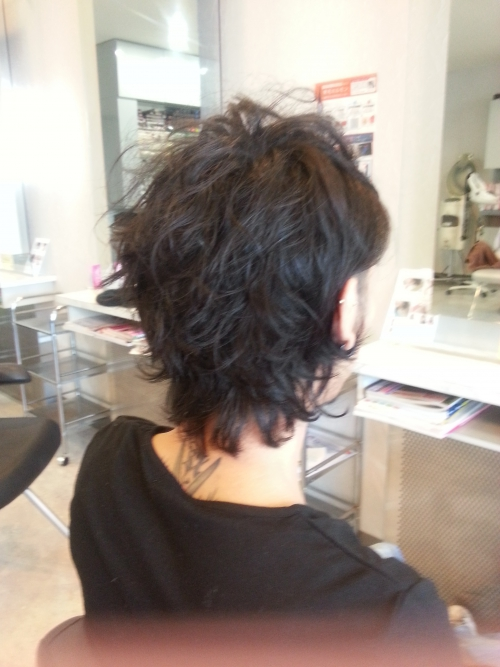 松蔭君が髪を切りました。