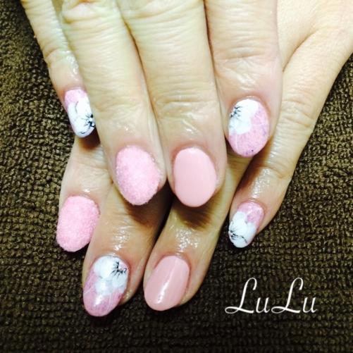 ネイルサロンへ☆ピンク☆お花
