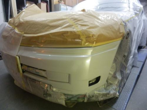 セドリックのパールホワイト塗装