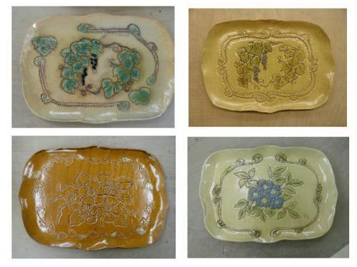 ;レリーフの作品が続々と焼きあがり。陶芸教室 国立けんぼう窯