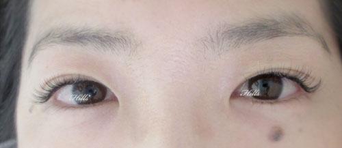 まつエクで目の左右差を対称に見せられます♡
