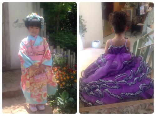 七五三の和服&ドレス