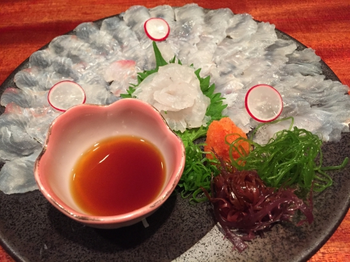 鮮魚!ヒラメの薄造り