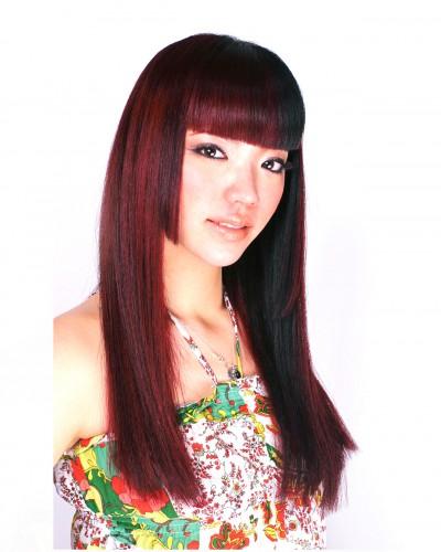 姫カット+片側ローライト