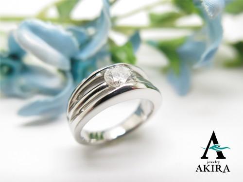立て爪リング婚約指輪のリフォーム いすみ市 0.7カラット