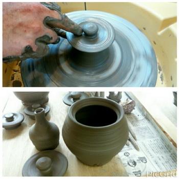 陶芸教室 東京国立けんぼう窯 ろくろで急須に初挑戦のTさん
