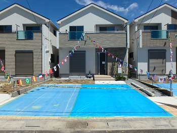見沼区蓮沼 大和田駅歩14分 南道路 日当り良好な新築住宅