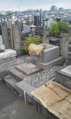 墓石 据え直し