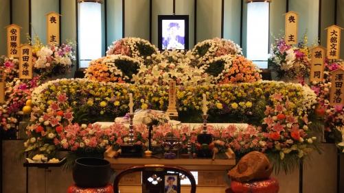 所沢市斎場で家族葬を行いました