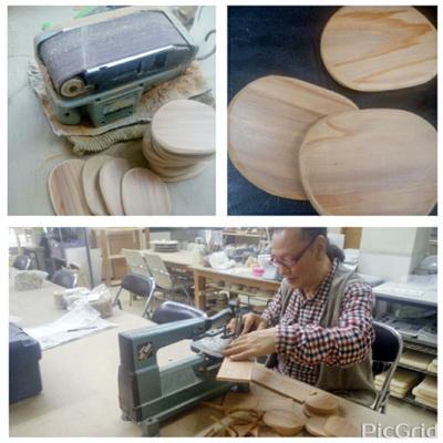 陶芸教室 国立けんぼう窯 今日はジグソーでコテ作り。