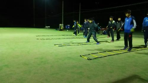 サッカースクール ラダートレーニング