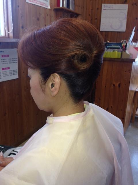 着物のヘアセット