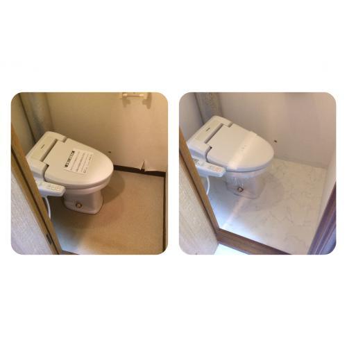 札幌市東区の賃貸マンション トイレ内の壁紙及びCF張替工事