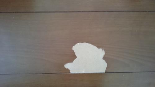 フローリングや家具の傷、穴、剥がれの補修(修理)の施工
