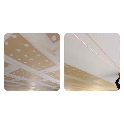 札幌市手稲区のテナント様 天井クロス(壁紙)張替えリフォーム