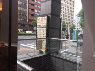 新宿でロープ作業です
