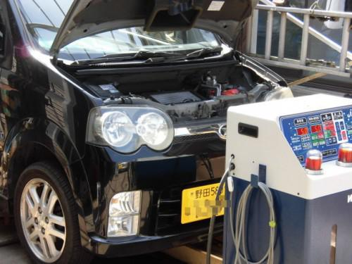 L152SムーヴATF交換 千葉県からトルコン太郎を求め来店