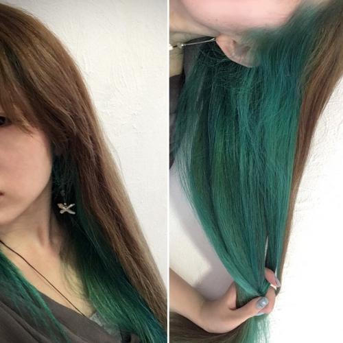 ダブルカラーでハデ髮カラー♪