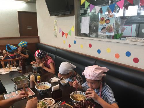 たまプラーザ店で「子供ラーメン教室」を13日に開催しました!