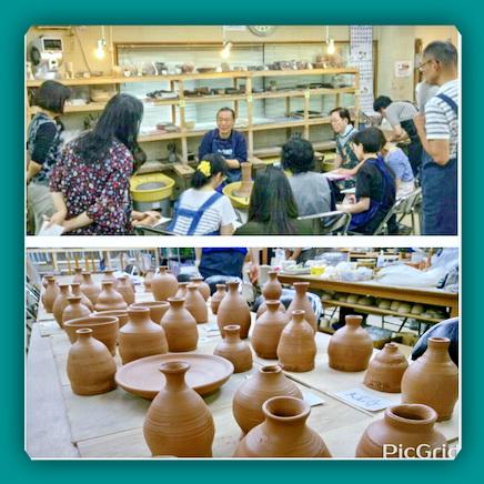 集中講座 テーマ3種の徳利作り。陶芸教室 国立けんぼう窯