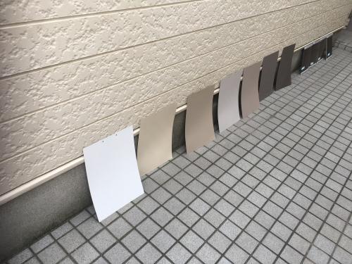 新宿区北新宿のアパート外壁塗装 色決め