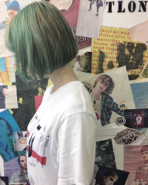 渋谷TLONY 切りっぱなしボブとカラーバター