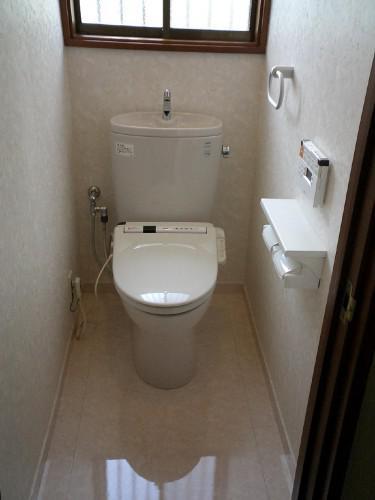 綾瀬市で洗面化粧台とトイレをリフォーム