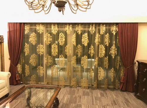 ホテルカーテン|ベルベット|ゴールド|アンティーク