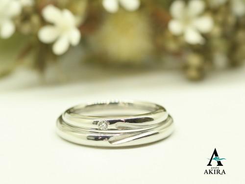 杉並区からお越しのお客様に結婚指輪の御納品でした