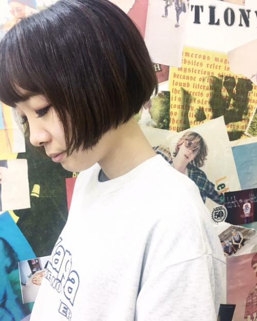 TLONY渋谷 ラインのキレイなぱっつんボブ