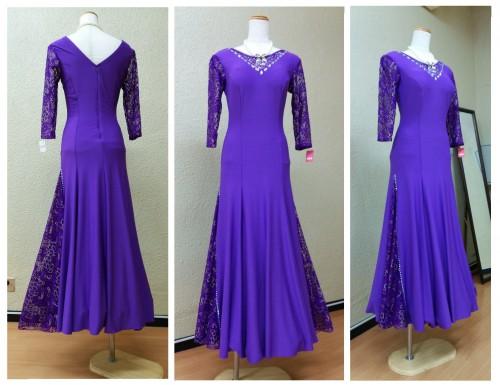 青紫色ドレス