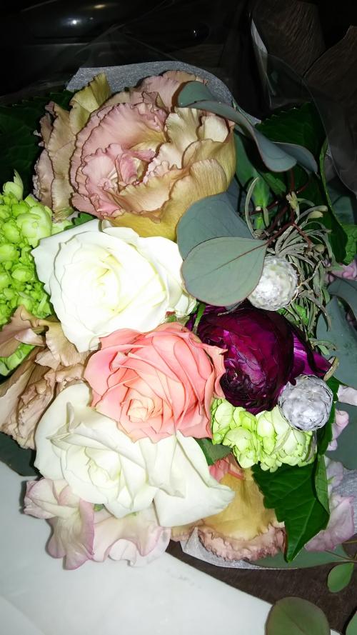 素敵な花束ありがとうございます